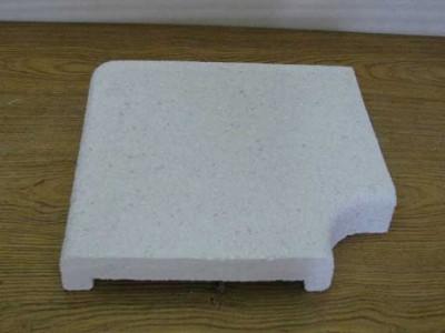Бордюрный копинговый угловой П-образный камень 280 мм