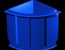 Полипропиленовая купель угловая 1,2х1,2м
