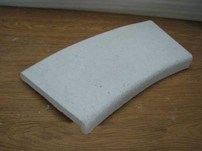 Бордюрный копинговый радиусный Г-образный камень 280 мм