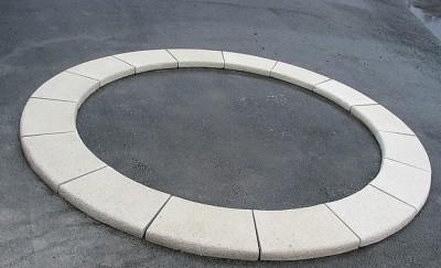 Бордюрный копинговый радиусный П-образный камень 280 мм