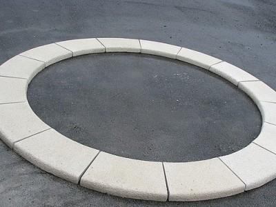 Копинговый бордюрный камень радиусный П-образный 300 мм