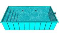 Полипропиленовый бассейн с лестницей 8мм, 4 ступени